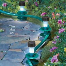 New listing Set of 3 Solar Powered Garden Path Lights w/ Hose Guides