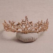 """Nature"" vintage gold effect Tiara party wedding rhinestone twigs, dragonfly"