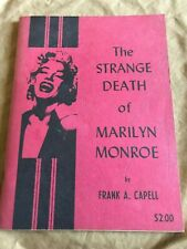 The Strange Death of Marilyn Monroe 1964 by Frank A. Capell - Rare