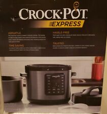 Crockpot Express Easy release  pressure Cooker 6 Qt Black Stainless Steel Finish