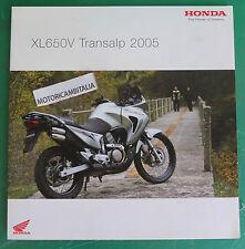 HONDA MOTO XL650V XL650 V TRANSALP 2005 PUBBLICITA DEPLIANT CATALOGO BROCHURE