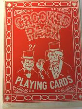 Vintage Novelty PLAYING CARDS THE CROOKED DECK NEW U.K. Design No. 666 52 + Joke