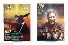Chile 2001 #2042-43 100 años Nacimiento del Padre Alberto Hurtado MNH