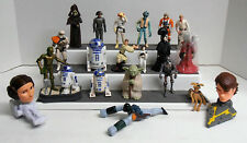 20 Lot Misc Vintage Star Wars Action Figures and Toys Selling as is