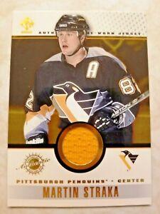 2001-02 Pacific Private Stock Jersey Pittsburg Penguins Martin Straka #85 Yellow