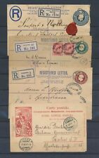 XC25323 Great Britain postal stationery registered nice lot of covers used