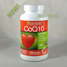 Trunature CoQ10 100mg Coenzyme Q-10 Heart Antioxidant 220 Softgels EXP 02/2022