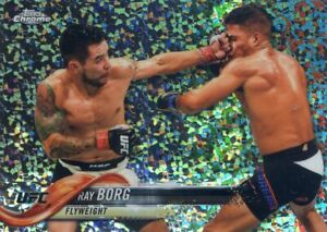 2018 TOPPS UFC CHROME REFRACTOR  DIAMOND HOT BOX SP RAY BORG #10