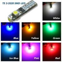 10X Car Auto T5 Gauge Dashboard Wedge Light LED Bulb Indicator 3 Smd 3528 L W4Q2