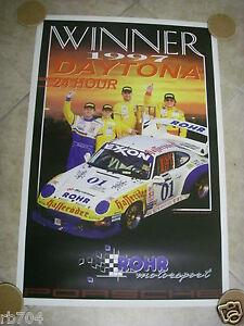 1997 ROHR Racing Porsche 24 Hours of DAYTONA CHAMPION POSTER  24 X 36