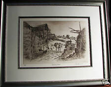"Cedric Emanuel limited etching ""Richmond Farms"" Australia"