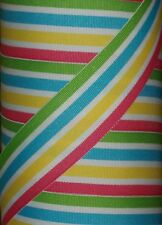 "5 yds 1.5"" M2MG POPSICLE PARTY CARRIBBEAN SMOOTHIE STRIPE GROSGRAIN RIBBON"