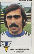 N°297 RENE DEUTSCHMANN RC.STRASBOURG VIGNETTE PANINI FOOTBALL 79 STICKER 1979