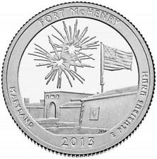 2013 FORT MCHENRY NATIONAL MONUMENT- QUARTERS - 2 COIN SET