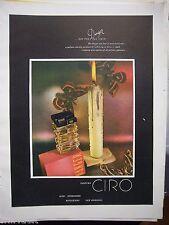 1948 Vintage CIRO Danger Perfume Bottle Burning Candle Color Ad