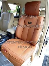 ISUZU TROOPER / RODEO DENVER CAR SEAT COVERS YMDX 07 ROSSINI PVC TAN LEATHERETTE
