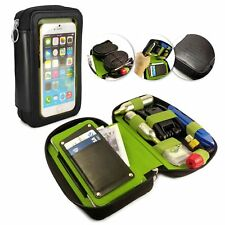 Tuff-Luv Personalised Velo Pouch 31 Leather Cycle Bike Bag Black for Smartphones