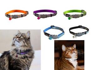 Cat Collar With Bell ROGZ NIGHTCAT Reflective Quick Release Breakaway Collars