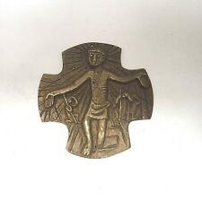 Sammlungsauflösung religiöse Volkskunst hochwertiges Kreuz Wandkreuz Bronze (26)