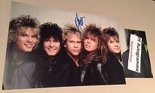 """JOEY TEMPEST """"EUROPE"""" signed In-Person autograph 8x12 Photo"""