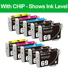 10P Ink Cartridges for 69 fit Epson WorkForce 1100 1300 30 310 315 40 500 & More