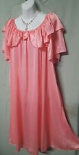"SEXY PEACH  W/ DOUBLE RUFFLE SLEEVE  43"" LONG NIGHTGOWN  SIZE 5X"