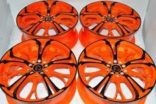 17 orange black Wheels Solara Beetle Jetta Forte Prius V Soul Rims 5x100 5x114.3