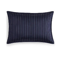 Nwpbloomingdale's 1872 Florenza Pima Cotton King Pillow Sham Striped Navy $130