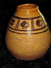 Handmade Stoneware Pot or Posy Vase Retro Two-Tone Brown Colour 'M.L.' 1975