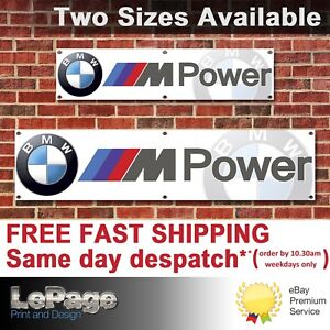 BMW M Power Banner, for Workshop, Garage, Man cave, Showroom