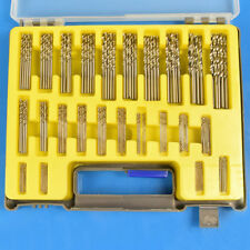 UK 150Pcs Set Tool Power Drill Bits Set Small Precision HSS Twist Kit Carry Case