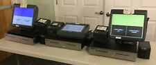 Lot Of 3 Complete Micros Ws4Lx Workstations 4Lx Pos Terminals, Printers, Drawers