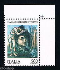 ITALIA UN FRANCOBOLLO CARLO GOLDINI COMMEDIOGRAFO 500 LIRE 1993 nuovo**