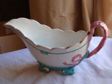 ANTIQUE TC BROWN WESTHEAD & MOORE PORCELAIN 10.01.1873 RIBBON ROPE SAUCE BOAT