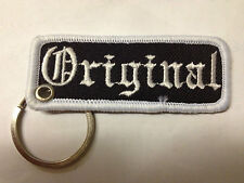 """ORIGINAL"" EMBROIDERY KEYRING EMBROIDERED PATCH BADGE CHROME RINGS  KEY CHAIN"
