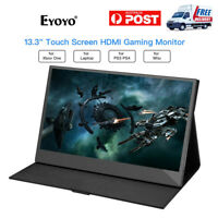 """1920x1080 13.3"""" IPS Panel Touch Screen Monitors HDMI IPS Gaming for PS3 PS4 PC"""