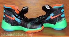 NIKE ZOOM SIZE 5Y YOUTH BLACK w/NEON COLORS HIGH TOPS BASKETBALL SHOES