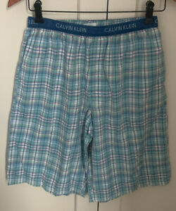 1 pair Calvin Klein blue plaid Pyjama shorts S elastic waist (2 pairs available)