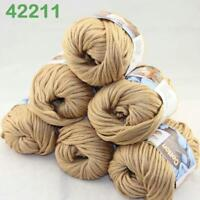 Sale New 6Skeinsx50g Soft Worsted Cotton Chunky Hand Knitting Baby Quick Yarn 11
