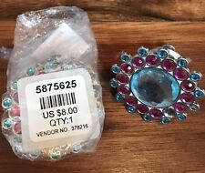 14 PIECE FLOWER Shape Crystal Glass Cabinet Knob Cupboard Drawer Pull... NEW $8