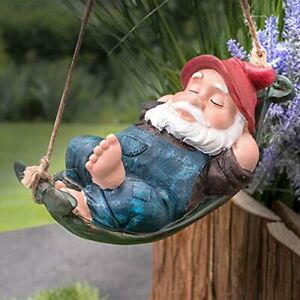 Garden Hanging Gnome Ornament Statue Waterproof Resin Decoration Decor Gift