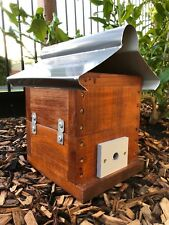 Stingless Native Bee Hive With Roof | Stained | Mini OATH Hive