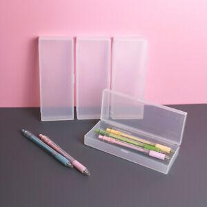 3pcs Pencil Case Plastic Box School Kids Office Pen Stationery Storage Organizer