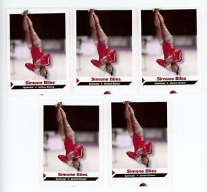 (5) 2013 Sports Illustrated SI for Kids Simone Biles RC ROOKIE LOT EXMT OLYMPICS