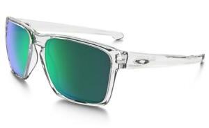 Oakley Sliver XL Sunglasses OO9341-02 Clear Frame W/Jade Iridium Lens BRAND NEW