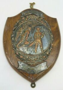 Vintage Replica Curling Trophy Shield, Presentation Item 1935