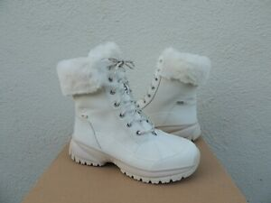 UGG WHITE YOSE FLUFF WATERPROOF WINTER SNOW BOOTS, WOMEN US 8/ EUR 39 ~NIB
