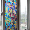 Fashion Home Decor Privacy Glass Window Shower Door Film Frosted Stained Sticker