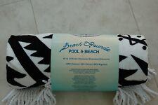 "Loftex Loft Black/White Pool & Beach Rounds/Towel - 65"" Diameter - 100% Cotton"