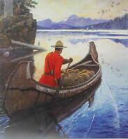 Canadian Mountie RCMP Canoe Sunrise